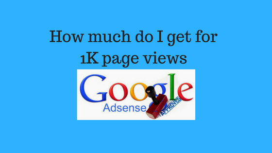 How much can you earn from Adsense for 1000 page views
