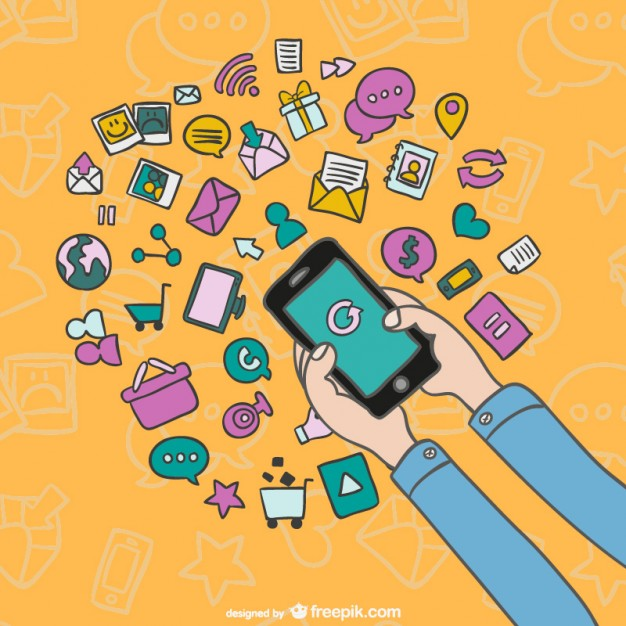 smartphone-cartoon-with-icons_23-2147498498