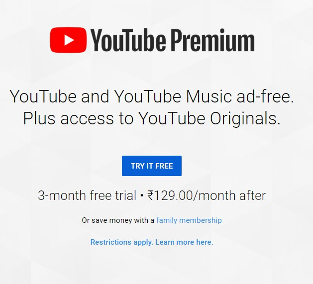 YouTube ad free